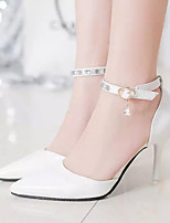 Women's Heels Summer Comfort PU Dress Stiletto Heel Crystal Black Pink White Others