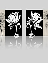 JAMMORY Canvas Set Landscape ,Two Panels Gallery Wrapped, Ready To Hang Vertical Print No Frame Simple Black and White