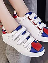 Unisexe-Décontracté-Noir / Blanc-Talon Plat-Ballerines-Sneakers-Polyuréthane