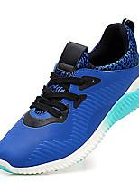 Herren-Sneaker-Sportlich-Kunststoff-Flacher Absatz-Komfort-Schwarz Blau Grau