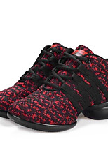 Women's Dance Shoes Sneakers Breathable Synthetic Low Heel Black/Red/Gray