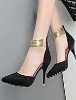 Women's Heels Spring Summer Fall Comfort PU Casual Stiletto Heel Zipper Others Black White Others