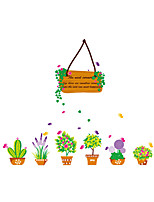 Wall Stickers Wall Decals Style Fresh Green Basket PVC Wall Stickers