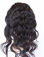 Peruvian Virgin Hair Elastic Band Lace Frontal Closure Body Wave Human Hair 360 Lace Frontal Closure