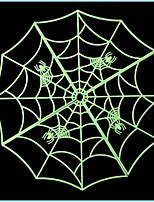 3PCS High Quality Halloween Spider Web Luminous  Home Bar Decoration Sticker