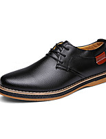 Men's Oxfords Spring / Fall Comfort PU Casual Flat Heel  Black / Blue / Brown Sneaker
