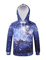Inspired by 3D Starry Sky Long Sleeve Hoodie Cosplay Hoodies Print Long Sleeve Coat Clothing Round Halloween