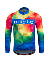 Sports Cycling Jersey Men's Long Sleeve BikeBreathable / Thermal / Warm / Quick Dry / Front Zipper / Sweat-wicking / Soft / YKK Zipper /