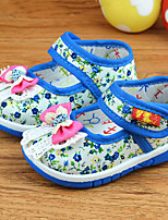 Girl's Flats Fall / Winter Ballerina / Round Toe Canvas Casual Flat Heel Others Blue / Red Others