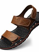 Men's Slippers & Flip-Flops Summer Flip Flops / Open Toe PVC Casual Flat Heel Bowknot Brown / Khaki Others