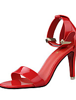 Women's Sandals Patent Leather Casual Stiletto Heel Others Black / Yellow / Pink / Red / Orange / Khaki Others