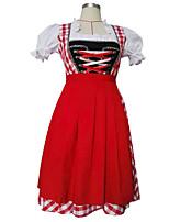 Costumes Plus de costumes Halloween / Fête d'Octobre Rouge Mosaïque Térylène Robe / Plus d'accessoires