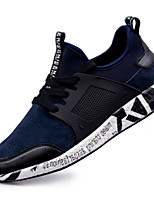 Men's Sneakers Spring / Fall Comfort / Round Toe PU Athletic Flat Heel Lace-up Black / Blue Sneaker