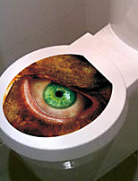 1pc Creative Personality Home Furnishing 3D The Toilet Stickers