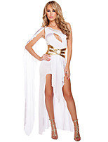 Cosplay Costumes Goddess / Egyptian Costumes Movie Cosplay White / Black Solid Dress Halloween / Christmas / New Year Female Polyester