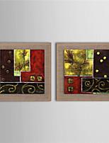 Handgemalte Abstrakt Ölgemälde,Modern Zwei Panele Leinwand Hang-Ölgemälde For Haus Dekoration
