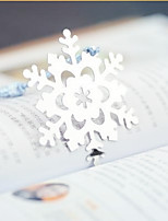 Silver-Metal Snowflakes Bookmark with Elegant Silk Tassel Tea Party Souvenir