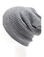 Унисекс Унисекс Винтаж / Для офиса / На каждый день Вязаная шапочка,Трикотаж,осень / Зима