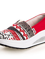 Women's Athletic Shoes Spring Fall Crib Shoes Synthetic Outdoor Casual Low Heel Others Blue Green Red Coffee Others
