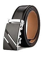 Mens Business Ratchet Belt Luxurious  Genuine Leather