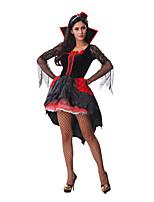 Costumes Vampires Halloween Black Patchwork Terylene Dress / More Accessories