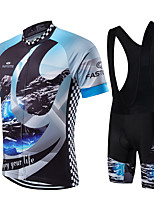 Sports® Cycling Jersey with Tights Men's / Unisex Short Sleeve Breathable / Quick Dry / Front Zipper / Wearable / Compression Bike