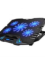 регулируемый светодиодный экран интеллектуальное управление ноутбук охлаждающая подставка с 5 вентиляторами