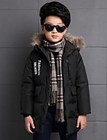 Boy's Casual/Daily Print Down & Cotton PaddedPolyester Winter Black / Green