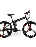 21 speeds Folding Mountain Bike 3 Spokes  Bicicleta Plegable Wheels 26*Frame 17 *Tire 1.95 Mountain Bike 26