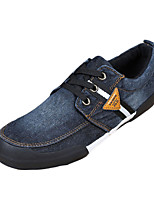 Men's Athletic Shoes Spring / Fall Comfort Fabric Casual Flat Heel Black / Blue Sneaker