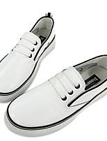 Da donna-Sneakers-Casual-Comoda / Punta arrotondata-Piatto-Di pelle-Nero / Verde / Rosso