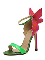 Women's Sandals Summer Peep Toe PU Casual Stiletto Heel Others Yellow / Green / Silver Others