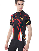 Sports Bike/Cycling Clothing Sets/Suits Men's Short Sleeve Quick Dry / Comfortable / Sunscreen Terylene Classic BlackS