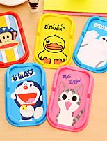 Automobile Anti Slip Mat Vehicle Mounted Cartoon Silica Gel Mobile Phone Support Pad Auto Supplies Perfume Pad