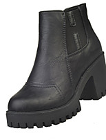 Women's Boots Fall PU Casual Chunky Heel Others Black Gray Khaki Other