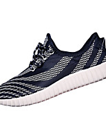 Unisex Sneakers Spring / Fall Comfort Fabric Casual Flat Heel  Black / Blue Sneaker