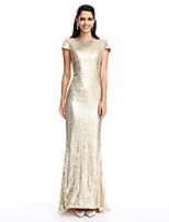 TS Couture® Formal Evening Dress Sheath / Column Scoop Ankle-length Georgette with Crystal Brooch