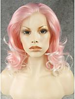 imstyle 16 естественный вид красивый волна розовый белый микс синтетический парик фронта шнурка