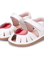 Girl's Sandals Summer Sandals Microfibre Casual Flat Heel Others Black / White Others