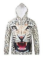 Inspired by 3D Animal Leopard Long Sleeve  Hoodie  Cosplay Hoodies Print Long Sleeve Coat Clothing Round Halloween