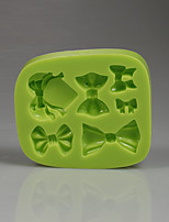 Silicone chocolate mold different bowknot shape fondant cake mold girl birthday cakes image