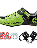 Cycling Shoes Unisex Outdoor / Road Bike Sneakers Damping / Cushioning Green / Black-sidebike