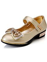 Розовый / Серебристый / Золотистый-Для девочек-Для праздника-Полиуретан-На низком каблуке-Удобная обувь / С круглым носком-На плокой