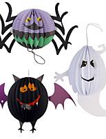 Funny Halloween Pumpkin Big Size Ghost Spider Bat Skeleton Lamp Paper Lanterns Decoration Party