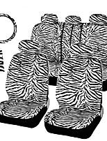 autoyouth короткая плюшевая белые зебры установить универсальные подходит для большинства автомобильных сидений руль покрытие плечо