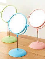 Makeup Desktop Rotatable Three Candy Colors Cosmetic Makeup Mirror Easy To Carry Portable Compact Beauty Mirror