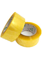 Three 45Mm 2-Inch 75 Yards Transparent Sealing Tapes Per Pack