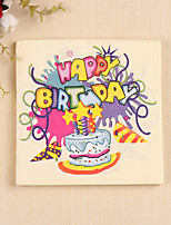 100% virgin pulp 20pcs Birthday Cake Napkins