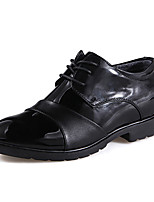 Men's Oxfords Spring / Summer / Fall / Winter Pointed Toe Leather Office & Career / Party & Evening Low Heel Black