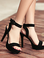Women's Sandals Summer Platform Leather Casual Stiletto Heel Others Black Others